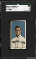 Rare 1909-11 T206 Jack Knight Portrait Polar Bear Back New York SGC 40 / 3 VG