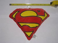 NEW SUPERMAN PLUSH LOGO STUFFED EMBLEM LOGO ETC.
