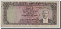 50 Lira L 1930 Türkei Banknote, 1951-12-01, Km:162a