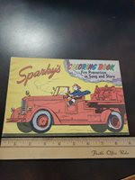 Vintage 1958 Sparky's Fire Prevention Coloring Book
