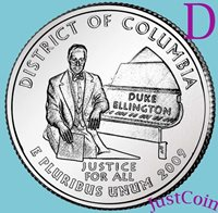 2009-D DISTRICT COLUMBIA (DC) QUARTER UNCIRCULATED FROM MINT DC& U.S.TERRITORIES