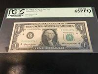 1963 $1 Dollar STAR NOTE Fr. 1900-D PCGS 65 PPQ SUPER LOW # D 00016274 * SHARP!
