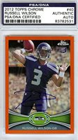 Russell Wilson Autographed 2012 Topps Chrome Rookie Card #40 PSA/DNA #83782531
