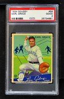 1934 Goudey Big League Chewing Gum - R320 #58 - Earl Grace [PSA 2 GOOD]