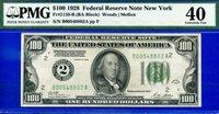FR-2150-B 1928 $100 FRN (( New York )) PMG Extremely-Fine 40 # B00548802A.