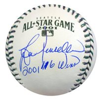 Lou Piniella Signed 2001 All Star Game Baseball Seattle Mariners 2001 116 Wins - PSA/DNA Authenticated - MLB Baseballs