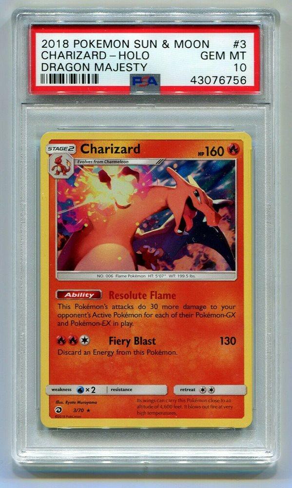 Charizard 3//70 Dragon Majesty Rare Holo Mint Pokemon Card