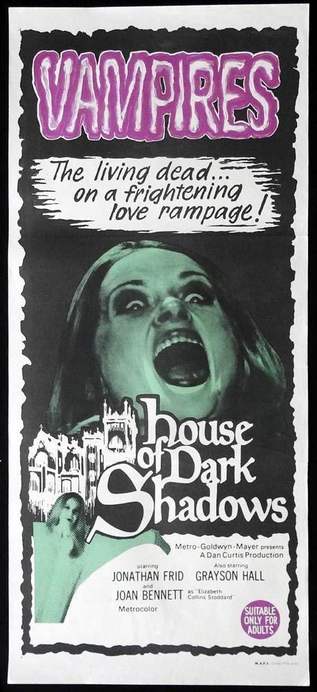 HOUSE OF DARK SHADOWS Movie POSTER 14x36 Japanese Jonathan Frid Joan Bennett