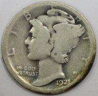 1921(P) Mercury Dime G4