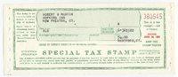 Retail Liquor Dealer F.Y.E. 1961 $54 green red VF