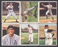 1950 BOWMAN BASEBALL ~ LOW NUMBER GROUP OF SIX (6) DIFFERENT