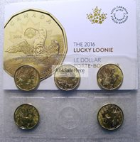 IN STOCK CANADA 2016 LUCKY LOONIE Rio Janeiro Brazil Olympics One Dollar 5-Pack