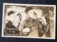 Autographed RPPC Chingwah Lee The Good Earth Actor Real Photo Postcard