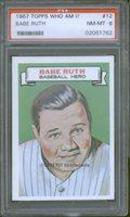 1967 Topps WhoAmI 12 Babe Ruth PSA 8 - $375.00