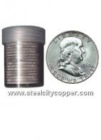 90% Silver Franklin Half Dollar Roll * Franklin Half Dollars.* 90% Silver.* 20 Circulated US Half Dollars.* Mixed Dates.Out of Stock
