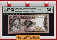 2 Emalangeni 1974 Swaziland Pmg 66 Epq Gem Uncirculated