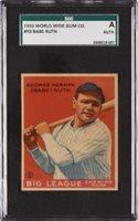 1933 World Wide Gum #93 BABE RUTH New York Yankees SGC Authentic