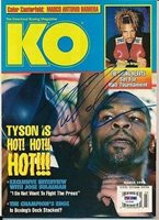 Mike Tyson Signed Knockout Boxing Magazine Autograph Auto Z10648 - PSA/DNA Certified - Autographed Boxing Magazines