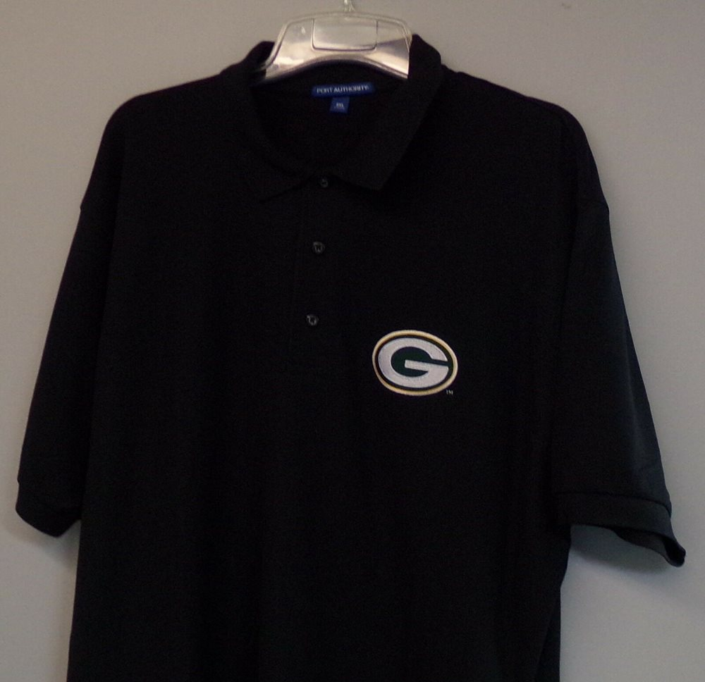 Nfl Football Green Bay Packers Embroidered Mens Polo Sh