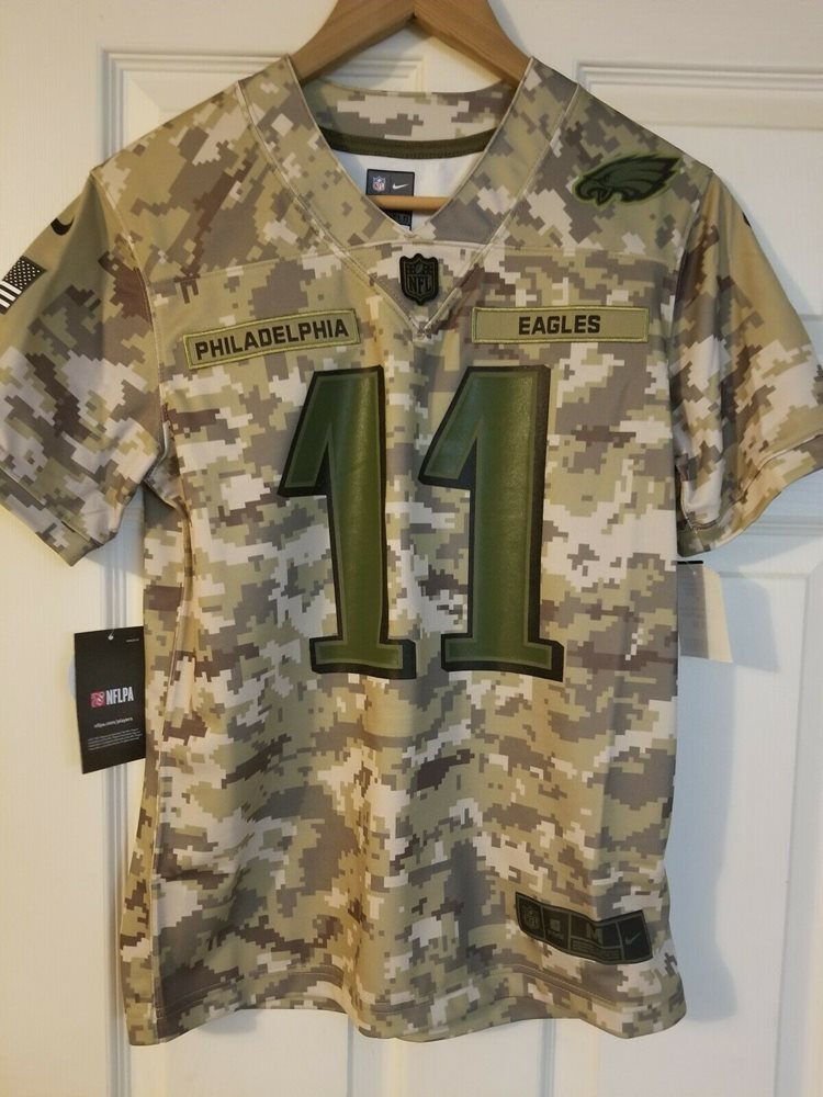 new styles 448a1 830b8 Nike Carson Wentz Youth Salute To Service Jersey Youth Size M Eagles