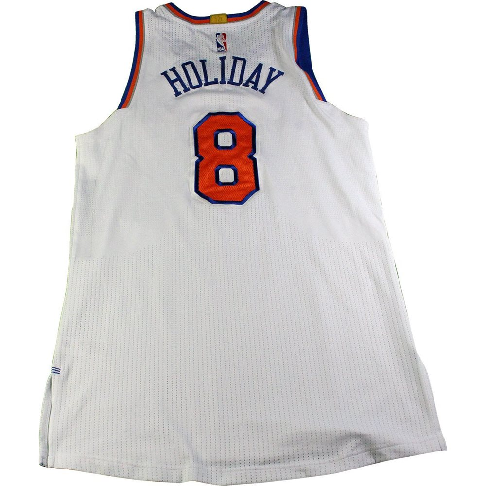 new arrival d7f0d 45e26 Justin Holiday New York Knicks 2016-17 Game Used #8 White Jersey (1/12/2017  vs. Chicago Bulls)(Size XL)