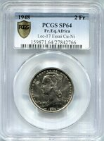 French Equitorial Africa - 1948 Essai 2Fr in PCGS SP64