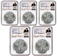 White Core 3 Pack Liberty Coin Act 2018 1oz Silver Eagle NGC MS70 ER