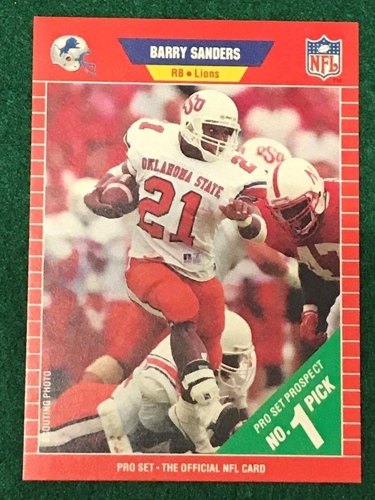 1989 Barry Sanders Pro Set Nfl Card 494 Rookie Card