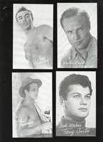 1960's Exhibit Supply Male Movie Stars Complete Set of 32 NM/MT