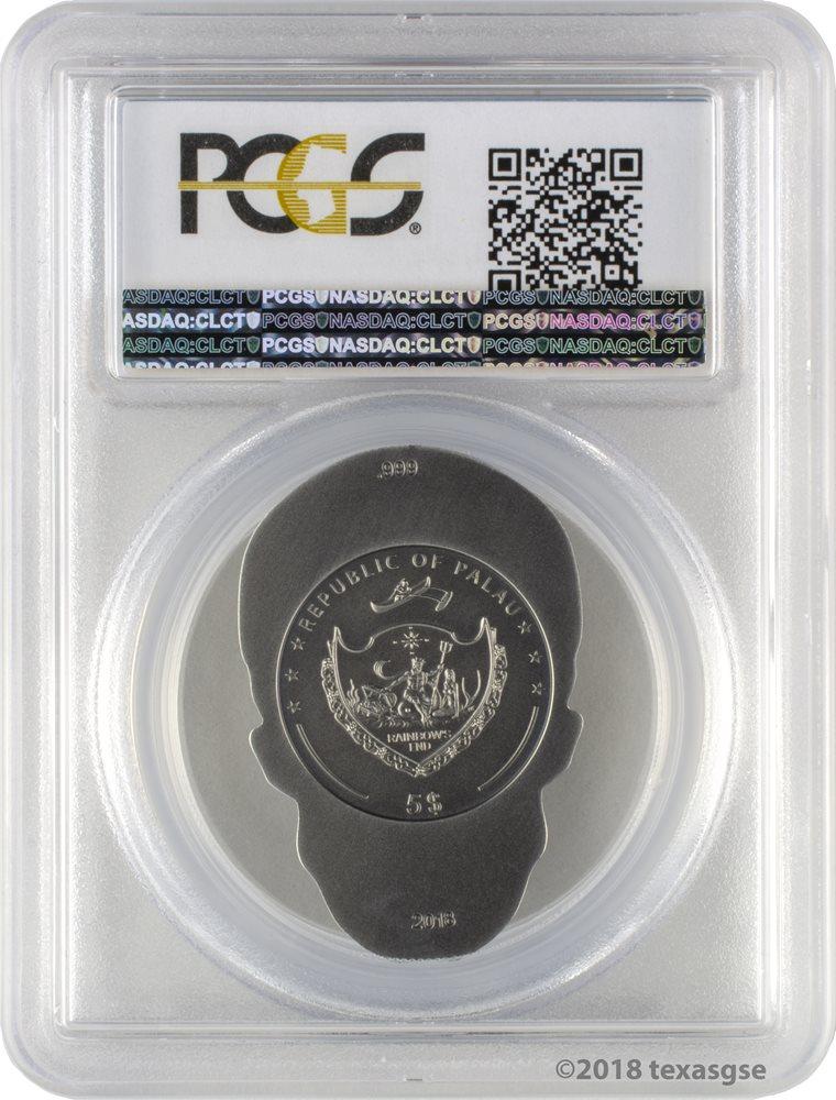 2018 $5 Palau Silver Heart Antique Finish 1oz 999 Silver Coin