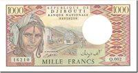 1000 Francs 1991 Dschibuti Banknote, Km:37c
