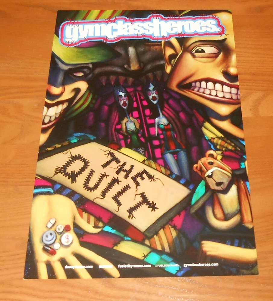 Gym Class Heroes The Quilt Poster Original 2 Sided Prom