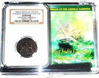 1808 ADMIRAL GARDNER Shipwreck NGC Certified 10 Cash Coin /& Story in Clear Box