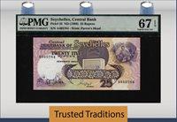25 Rupees 1989 Seychelles Pmg 67 Epq Superb Gem Top Pop Only Two Finer