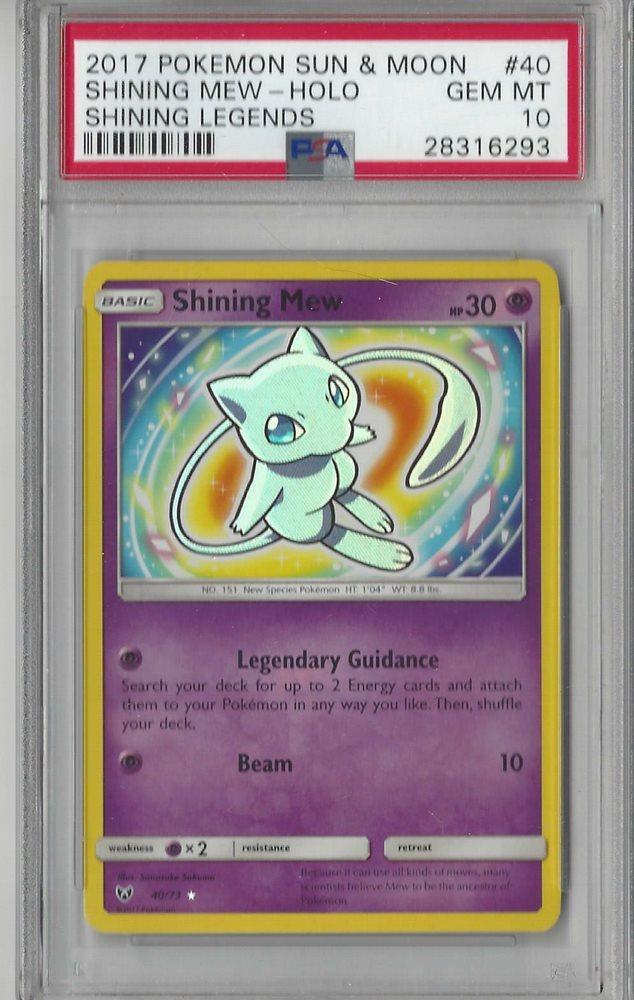 40//73 SM Shining Legends Shining Mew Pokemon