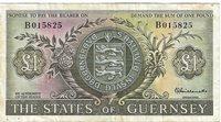 Guernsey 1 pound 1969-1975 P#45a