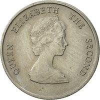East Caribbean States, Elizabeth II, 10 Cents, 1981, EF(40-45), Copper-nickel