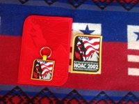 OA - 2002 NOAC Red Ghost Backpack Patch, patch no loop,key chain