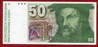 50 Franken 1988 Schweiz Banknote Owl Eule /konrad Gessner Paper