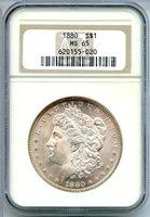 1880 $1 MS65 NGC