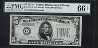 1934-A $5 Federal Reserve Note PMG Gem Uncirculated 66 EPQ