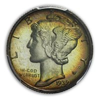 1939 10C Mercury Dime PCGS PR67 (CAC)