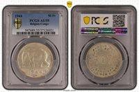 Belgian Congo 1944 50 Franc PCGS AU55