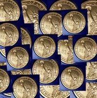 2012 P/&D CHESTER ARTHUR TWO COINS SET GOLDEN PRESIDENTIAL DOLLAR UNCIRCULATED