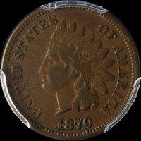 1870 Indian Cent PCGS VF20 Superb Eye Appeal Nice Strike