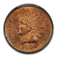 1906 1C Indian Cent - Type 3 Bronze PCGS MS66RD