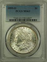 1899-O Morgan Silver Dollar $1 Coin PCGS MS-63 (10A)