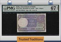 1 Rupee 1994 India Pmg 67 Epq Superb New Discover None Graded Finer!