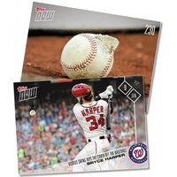 2017 TOPPS NOW #230 BRYCE HARPER VICIOUS SWING KNOCKS COVER OFF BASEBALL