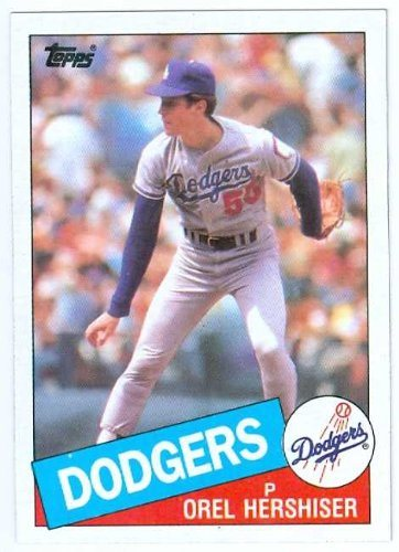 Orel Hershiser Baseball Card 1985 Topps 493 Los Angeles Dodgers Rookie Card